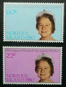Norfolk Island 80th Birthday Queen Elizabeth II 1980 Royal (stamp) MNH