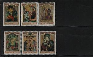 YUGOSLAVIA  906-911 (6) Set, Hinged, 1968 Medieval Icons