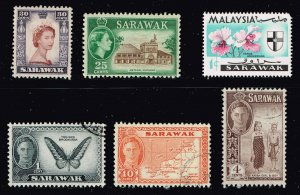 Sarawak Stamp MINT AND USED TAMPS LOT