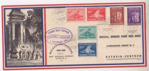 NETHERLANDS EAST INDIES, 1939 Social Bureau & Protestant Funds set of 6, fdc.