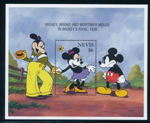 Disney Nevis- MNH Souvenir Sheet Mickey and Minnie #895 (1995)