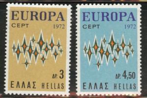 GREECE Scott 1049-1050 MNH** 1972 Europa set