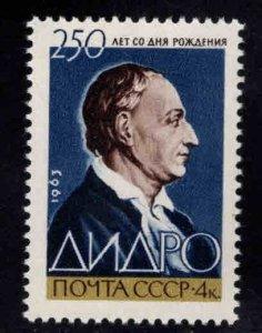 Russia Scott 2784 Denis Diderot stamp MNH**