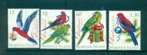 Norfolk Is. - Sc# 1013-6. 2010 Birds, Christmas. MNH. $5.25.