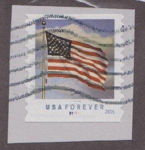 US #5052 Flag Used PNC Single plate #B11111 on paper