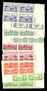 US #785 - 794 COMPLETE PLATE BLOCK ARMY NAVY SET,   VF mint never hinged a fe...