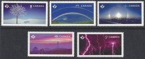 Canada #2839i-43i MNH set die cut, weather wonders, issued 2015