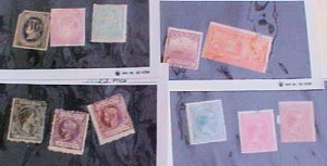 CUBA STAMPS 10 DIFF. #22/P29  MINT LIGHT HINGED cat.$175.00