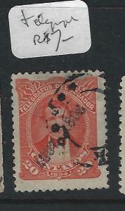 ECUADOR  (P1303BB)  TELEGRAPH STAMP 1897-8 SURCH   VFU