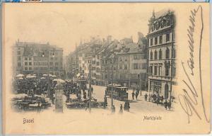 57605 -  SWITZERLAND -  Vintage Postcard - Basel-Stadt: BASEL  1902  - MARKET