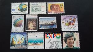Australia Single Issues 1980's Unused