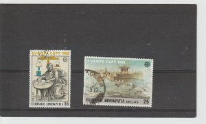 Greece  Scott#  1459-1460  Used  (1982 Europa)