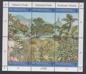 St Helena 690 Plants Souvenir Sheet MNH VF