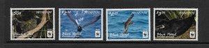 BIRDS - NIUAFO'OU #339-42  BLACK PETRAL   WWF   MNH