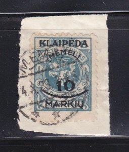 Memel N1 On Piece U Lithuanian Occupation