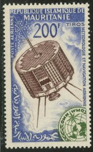 MAURITANIA Sc#C25 1963 Space Research Tiros Satellite Complete Mint OG NH
