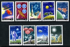 ROMANIA 2387-2395 MNH SCV $3.55 BIN $2.00 SPACE