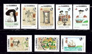 Gambia 788-95 MNH 1988 Discovery of America Anniv    (ap1687)
