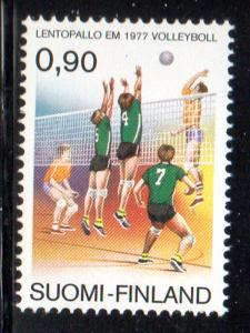 Finland Sc 602 1977 Volleyball stamp NH