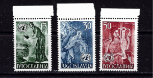Yugoslavia 375-77 NH 1953 set
