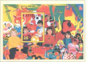 Latvia Sc 417 1996 Children's Games stamp sheet mint NH