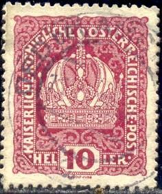 Austrian Crown, Austria stamp SC#148 used