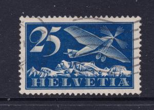 Switzerland a used 25c Air stamp from the 1923 series