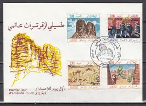 Algeria, Scott cat. 723-726. Tourism issue. Cave Art. First day cover. ^