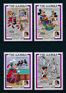 [22350] Gambia 1985 Disney King Mickey Mouse Goofy Brothers Grimm MNH