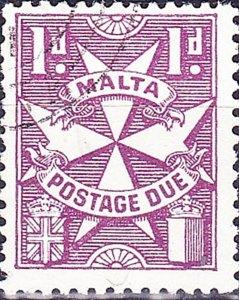 MALTA 19671d Purple Postage Due SGD29FU