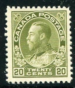 Canada #119  Mint nearly VF  lightly hinged