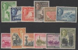 GOLD COAST SG135/46 1948 DEFINITIVE SET MTD MINT