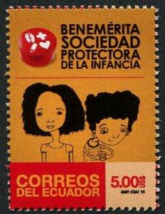 HERRICKSTAMP NEW ISSUES ECUADOR Sc.# 2188 Protection of Children
