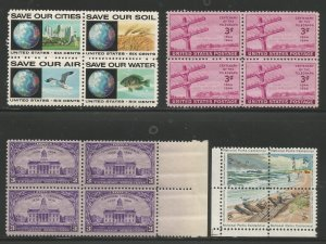Lot # A111  ( 4 ) Misc Blocks of 4 Stamps