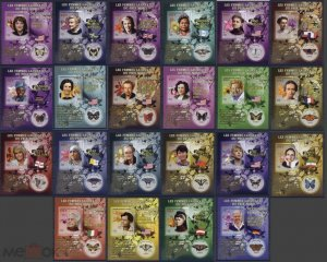 PE1-22 2009 MALI BUTTERFLIES FAUNA WOMEN NOBEL PRIZE WINNERS !!! 22BL MNH STAMPS