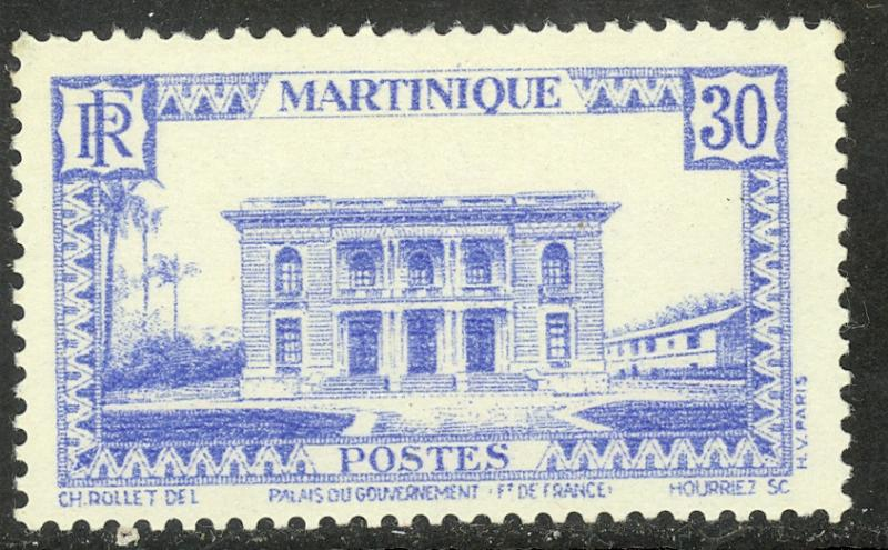 MARTINIQUE 1933-40 30c Government Palace Pictorial Sc 143 MLH