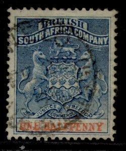 RHODESIA QV SG18, ½d dull blue & vermilion, USED.