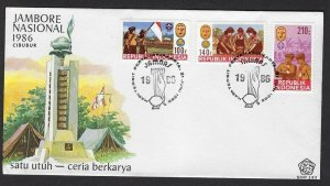 1986 Indonesia Boy Scout Jamboree FDC