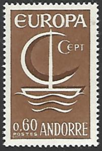 Andorra, (French) #172 Mint Hinged Single Europa