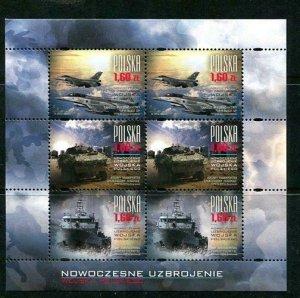 Poland 2013 Mini Sheet Mi 4624-6 MNH Modern Military Modern Equipment 10336