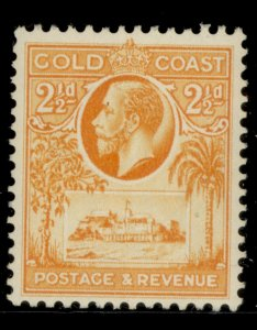 GOLD COAST GV SG107, 2½d orange-yellow, LH MINT.
