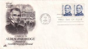 1985, Honoring Alden Partridge, Art Craft, FDC (E12293)