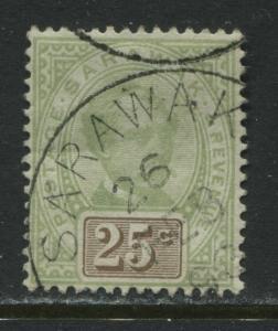 Sarawak 1888 25 cents used