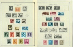 Liechtensein 1940-1999 mostly Mint & some Used hinged/Scott Inter. Pages