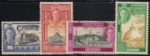 Ceylon 296-299 Mint/Used VF (298,8 used)