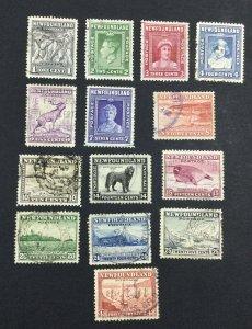 MOMEN: NEWFOUNDLAND #276-289 1941-44 USED £120 LOT #6999