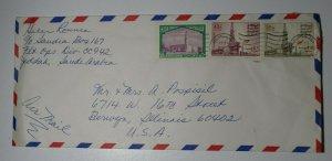KSA Saudi Arabia 1978 Commercial Airmail Cover Used Sc# 738 737 720