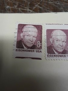 Usa Used Minor / Major Miscut 8c Stamps