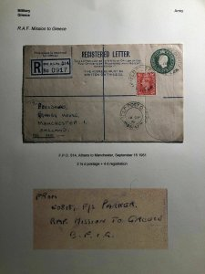 1951 Athens Greece British Army FPO 514 Registered Letter Cover To England