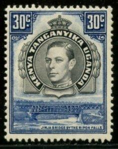 KUT Sc#76b (SG#141) 1938 KGVI 30c Perf Variety Mint Hinged